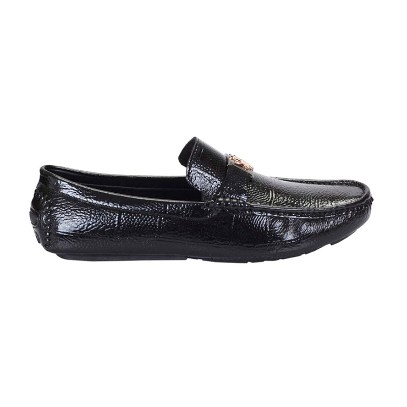 Black Patent Buckle Loafers