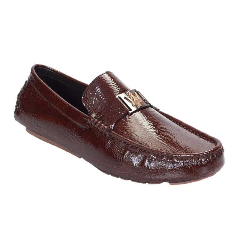 Brown Patent King Loafers