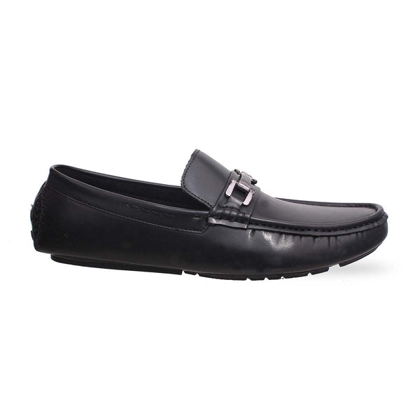 Black Buckle Casual Loafers