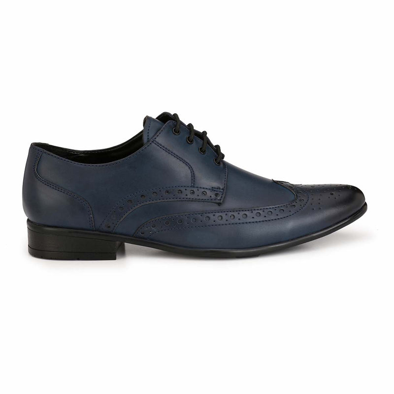Blue Formal Brogue Shoes