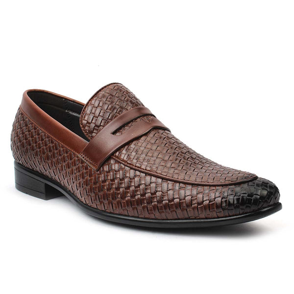 Brown Chatai Saddle Loafers