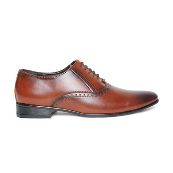 Cognac Formal Brogue Shoes