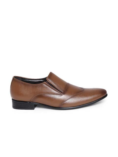 Tan Patent Slip-on shoes