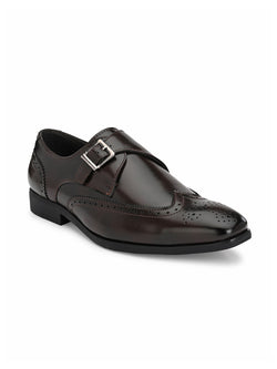 Dario Brown Single Monk Shoes