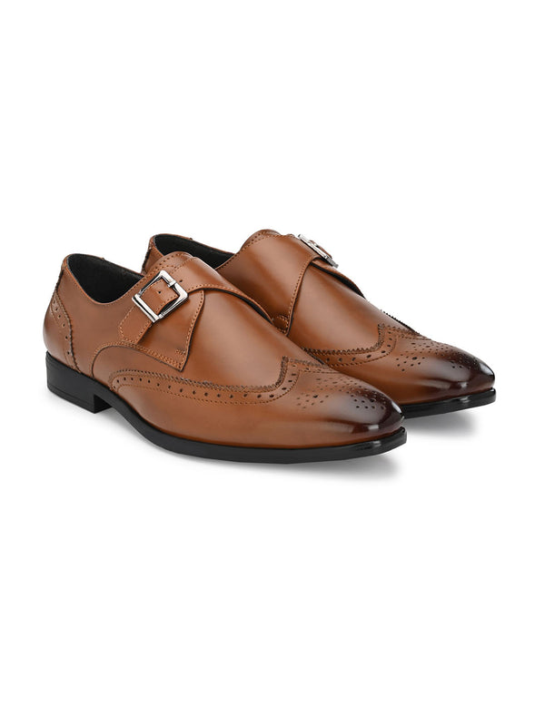 Dario Tan Single Monk Shoes