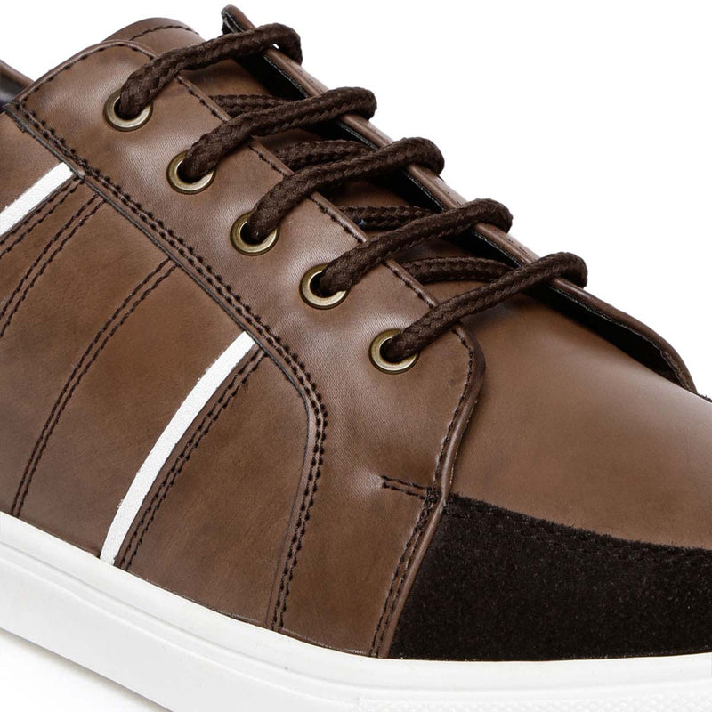 Brown Lace-up Sneakers