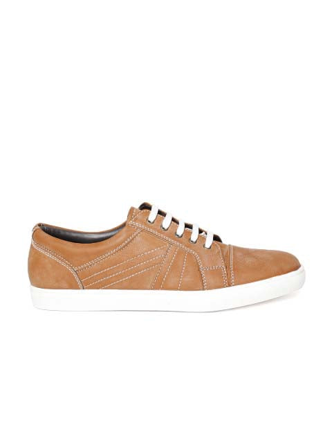 Tan Burnish Lace-up Sneakers