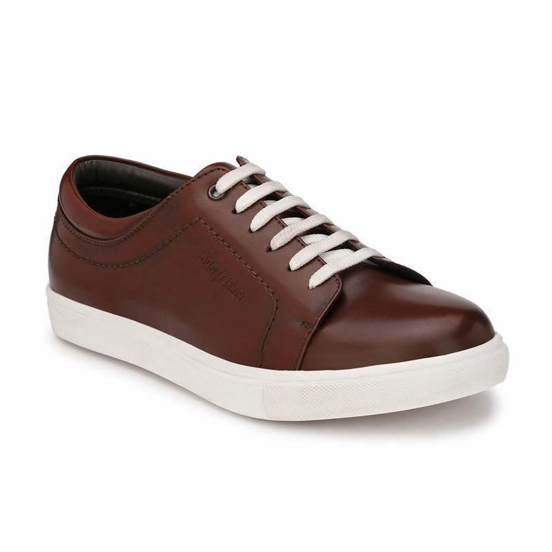 Tan Casual Lace-ups Sneakers