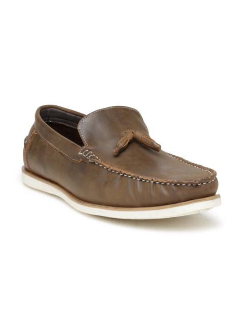 San Frissco Brown Casual Tassel Driving Shoe For Mens