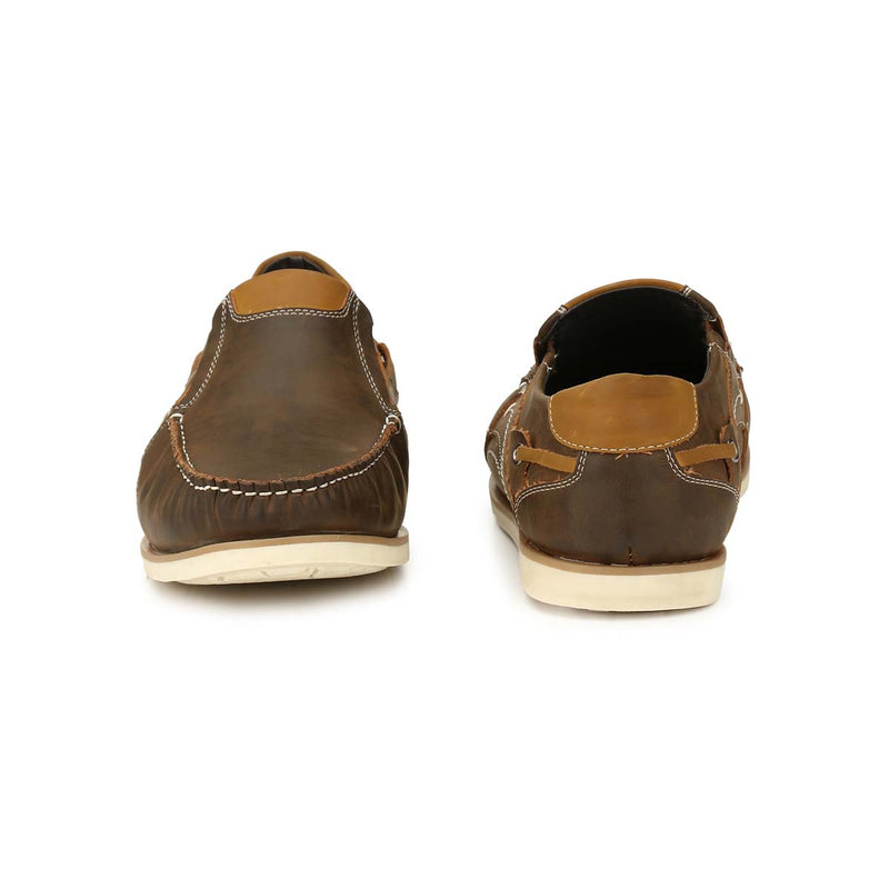 Brown Casual Driving Shoe