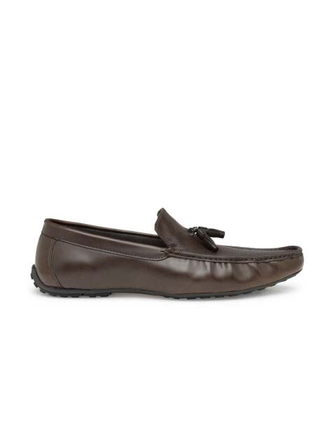 Brown Casual Tassel Loafers