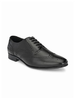 Barney Black Perforated Brogues