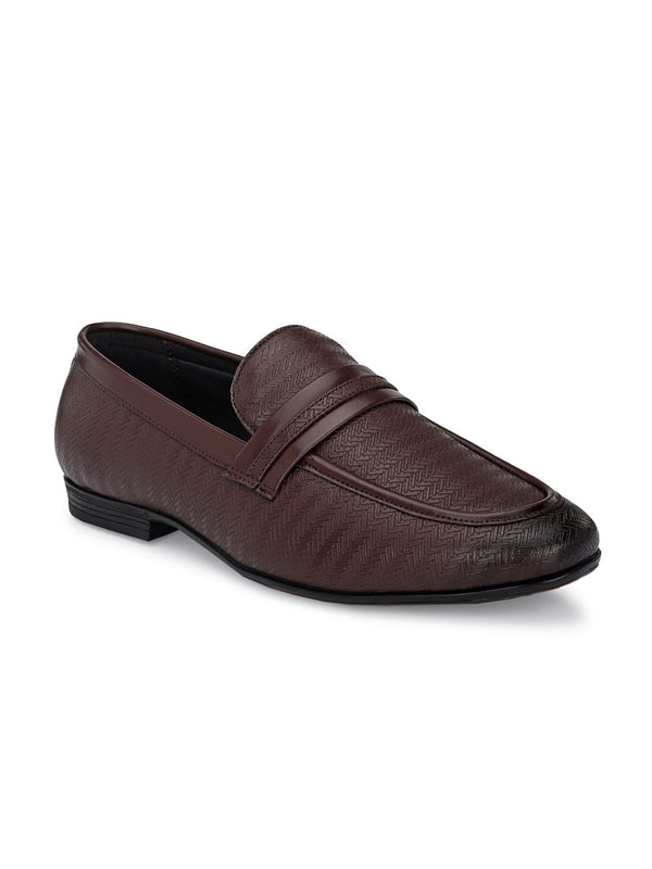 Capri Brown Textured Slip-Ons