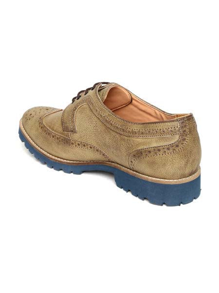 San Frissco Khaki Formal Brogues For Men