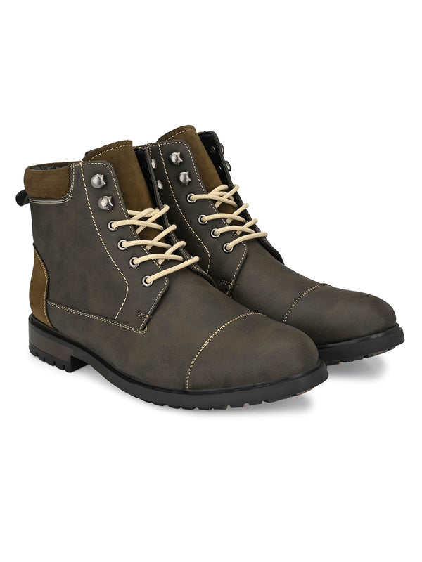Travis Olive Boots