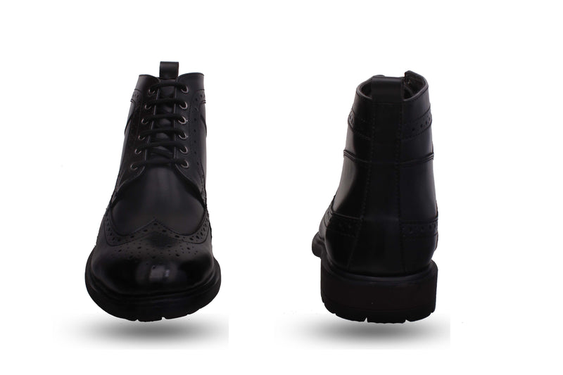 Black casual lace up Boots
