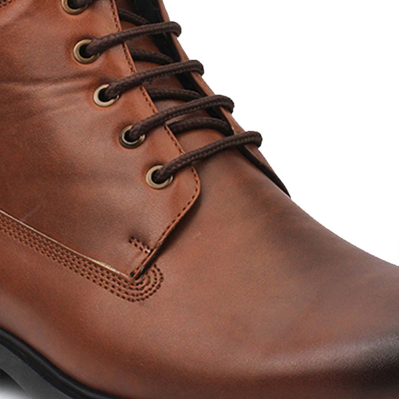 Tan Lace-ups Boots