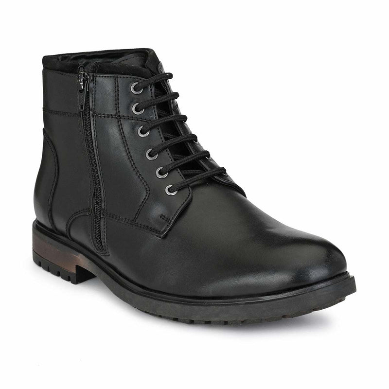 Black Duo Style Lace Up boots