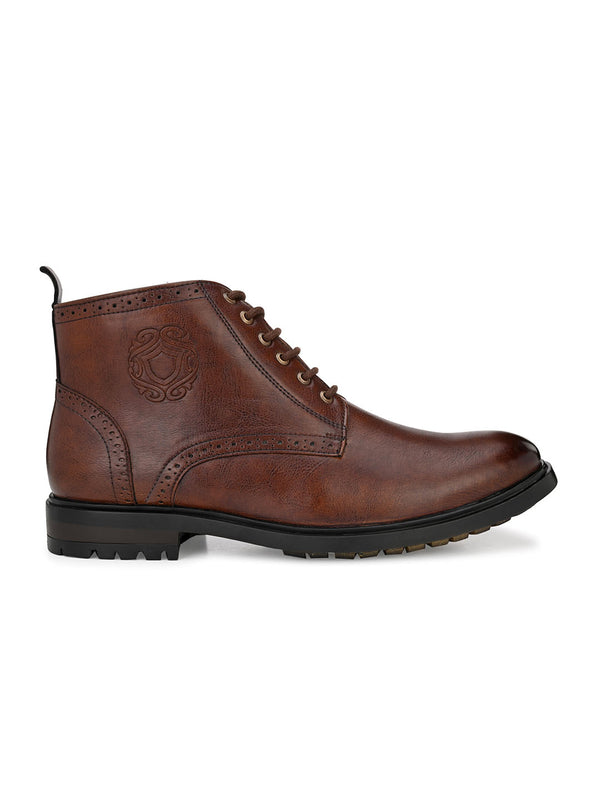Cavalry Tan Lace-Up Boots