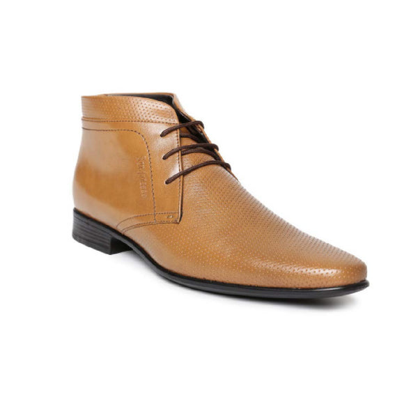 San Frissco Tan Formal Boots For Men