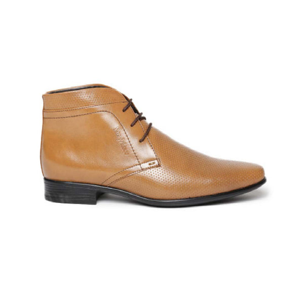 San Frissco Tan Formal Boot For Mens