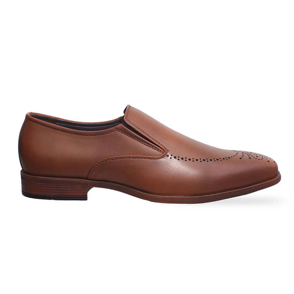 Tan Formal Slip-Ons