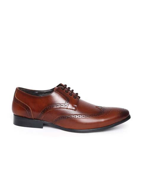 Cognac Brogue Formal Shoes