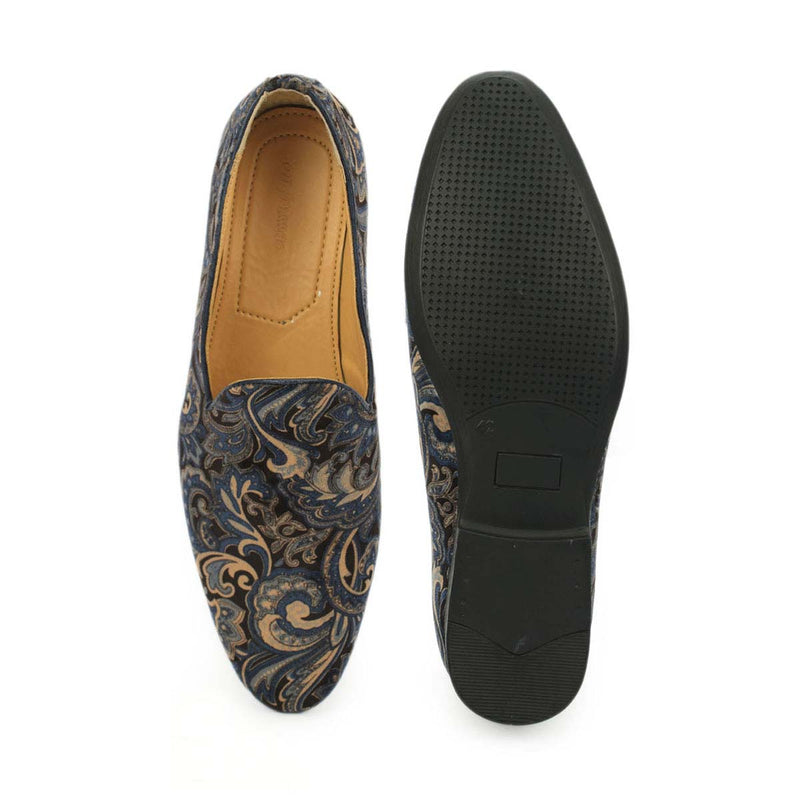 Blue Velvet Casual Loafers