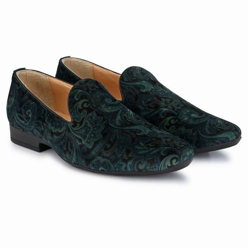 Green velvet Loafer