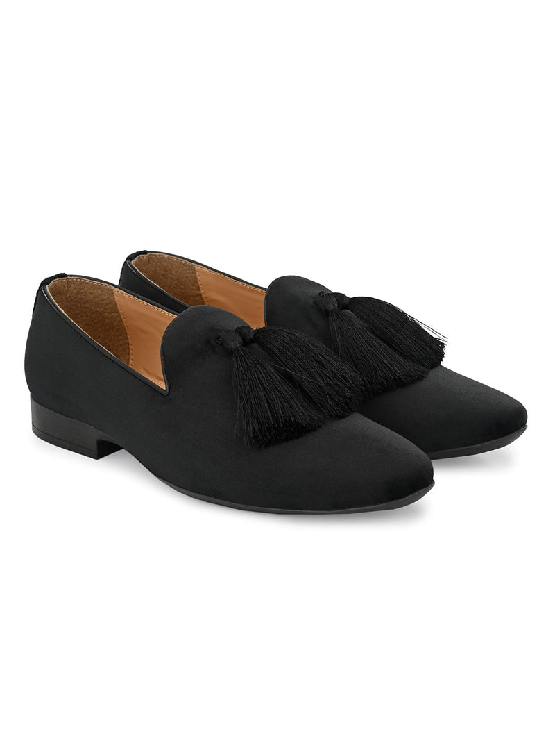 Belagio Black Tassel Loafers