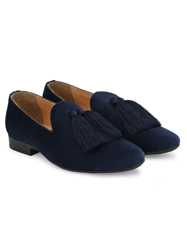 Belagio Blue Tassel Loafers