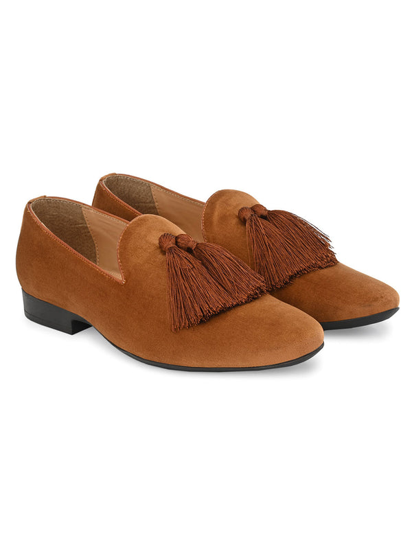 Belagio Tan Tassel Loafers