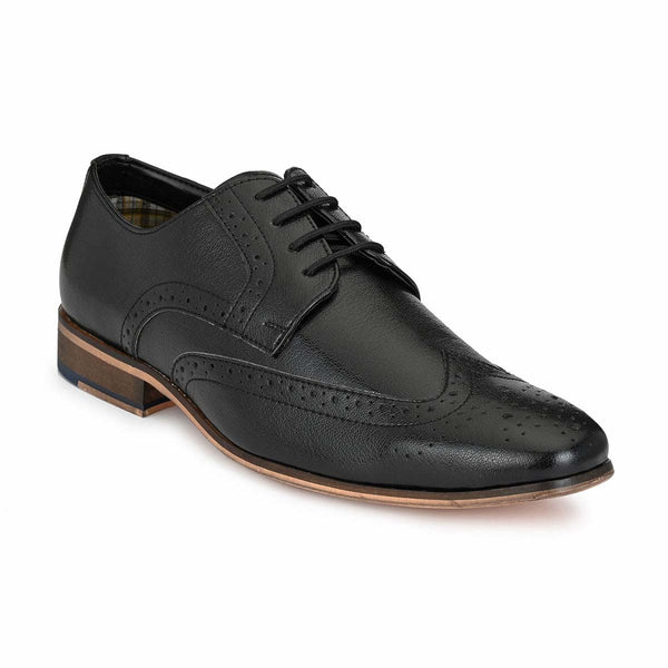 Black Leather Formal Brogue
