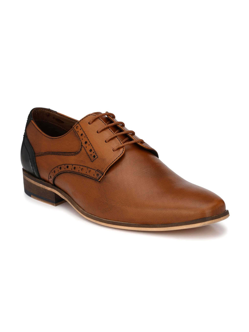 Tan Two-Tone Punched Derbys