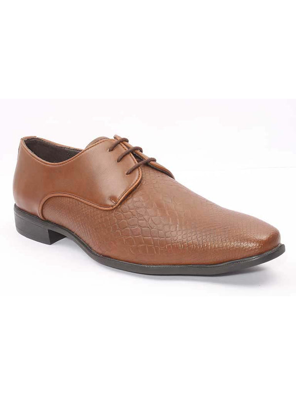 Tan Snake Leather Derby Formals