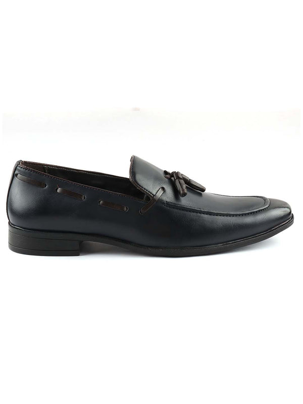 Blue Patent Tassel Loafers