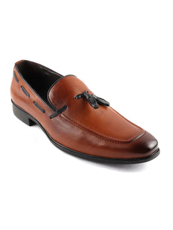 Tan Patent Tassel Loafers