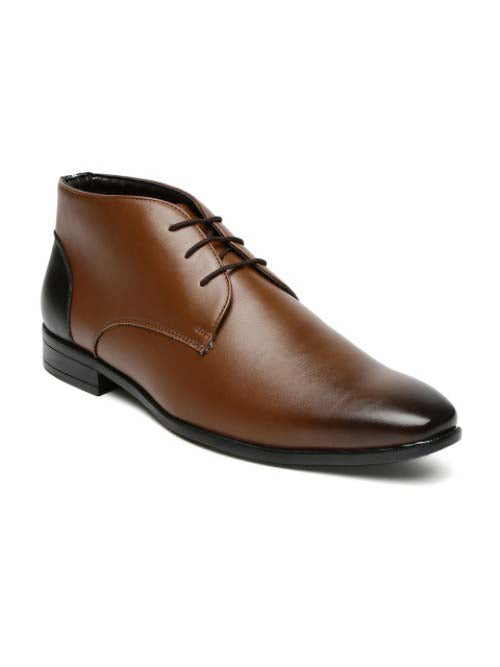 Tan Semi-Formal Brogue Shoes