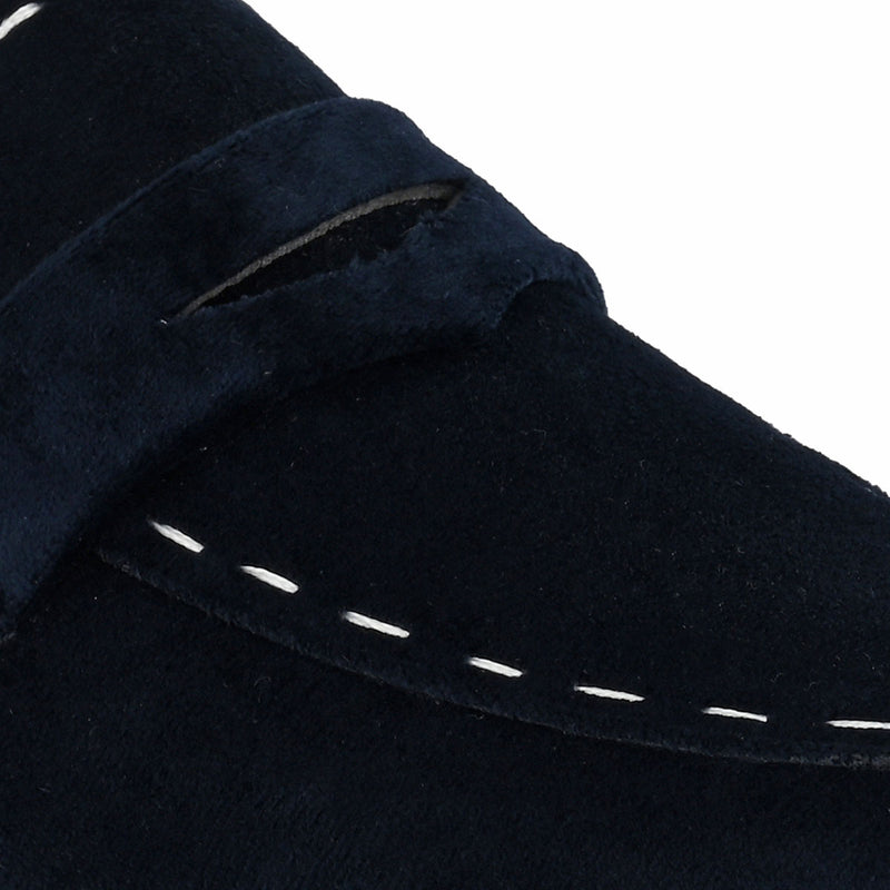 Blue Velvet Loafers