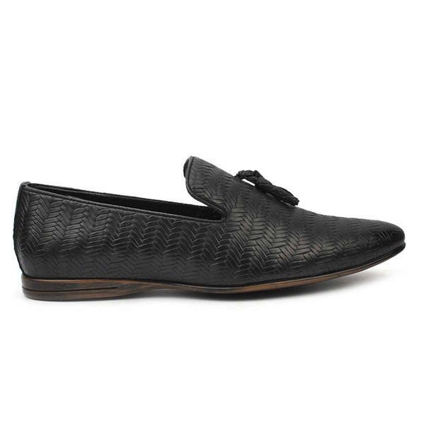 Black Suede Buckle Loafers