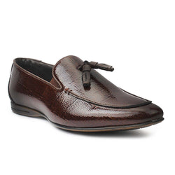 Brown Patent Tassel Loafers