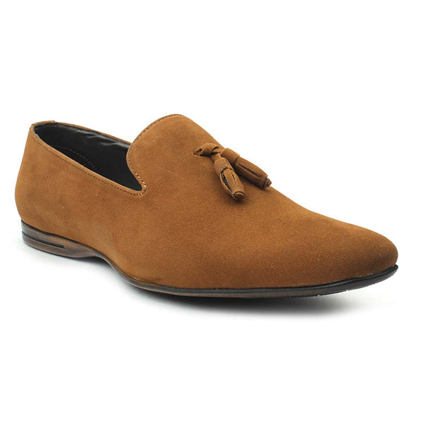 Tan Suede Tassel Loafers