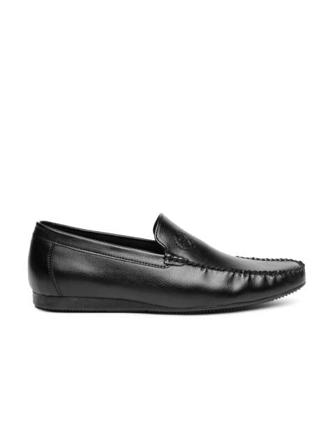 Black Basic Logo Loafers