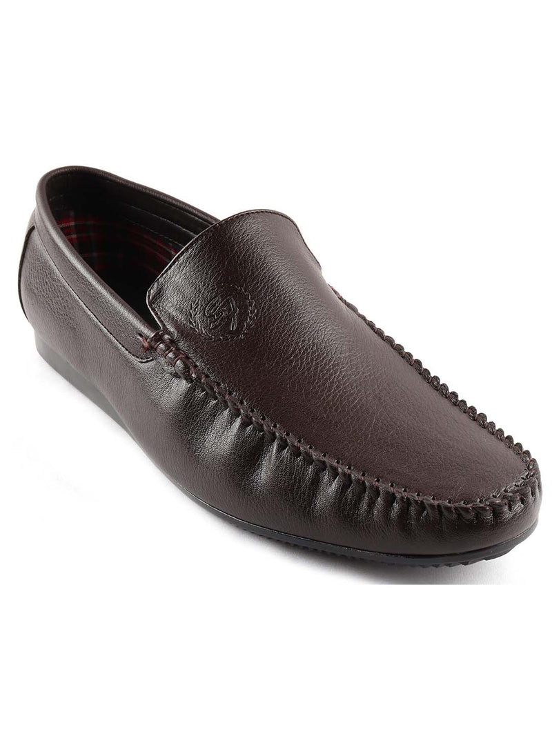 Choco Brown Logo Loafers