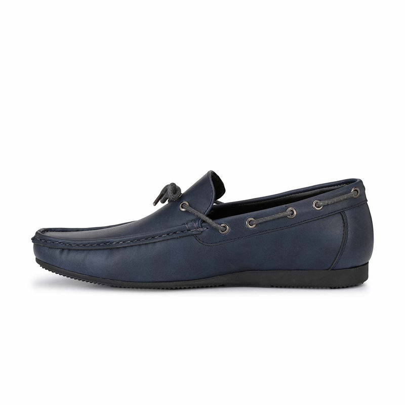 Blue Casual Bow Loafers