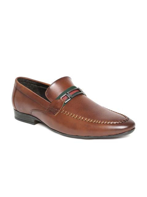 Cognac Formal Slip-Ons