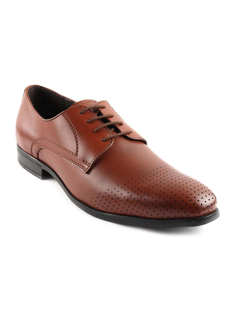 Tan Formal Derby Lace-ups
