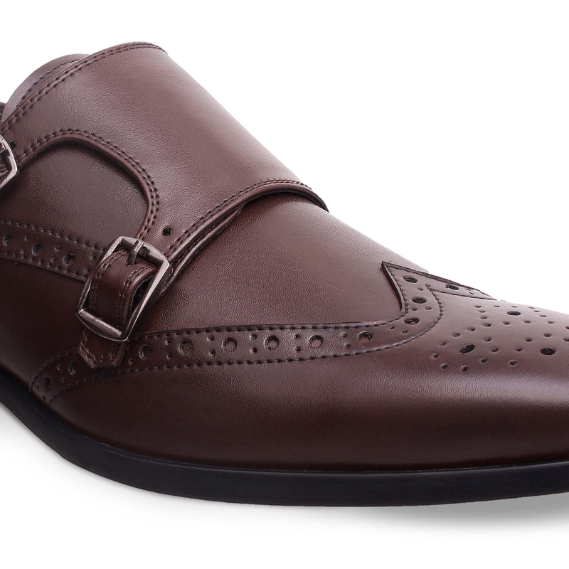 Brown Double Monk Brogues