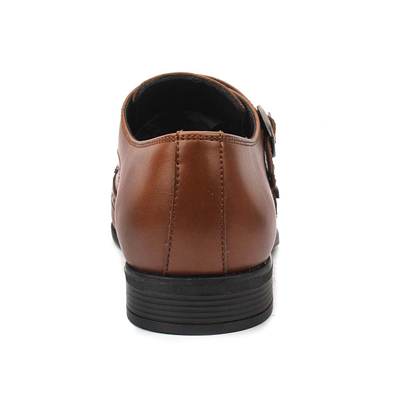 Tan Double Monk Brogues