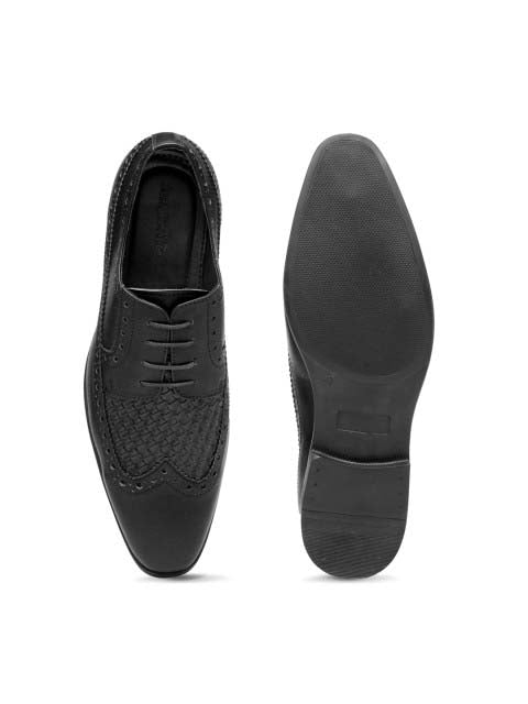 Black Chatai Brogue Shoes